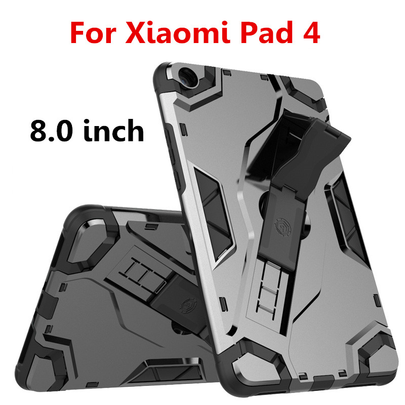 Hand strap Case For Xiaomi Mi Pad 4 MiPad 4 8.0 tablet Case Protective cover TPU+PC Heavy Duty Armor Case Hybrid Rugged Rubber baseus guards case tpu tpe cover for iphone 7 red