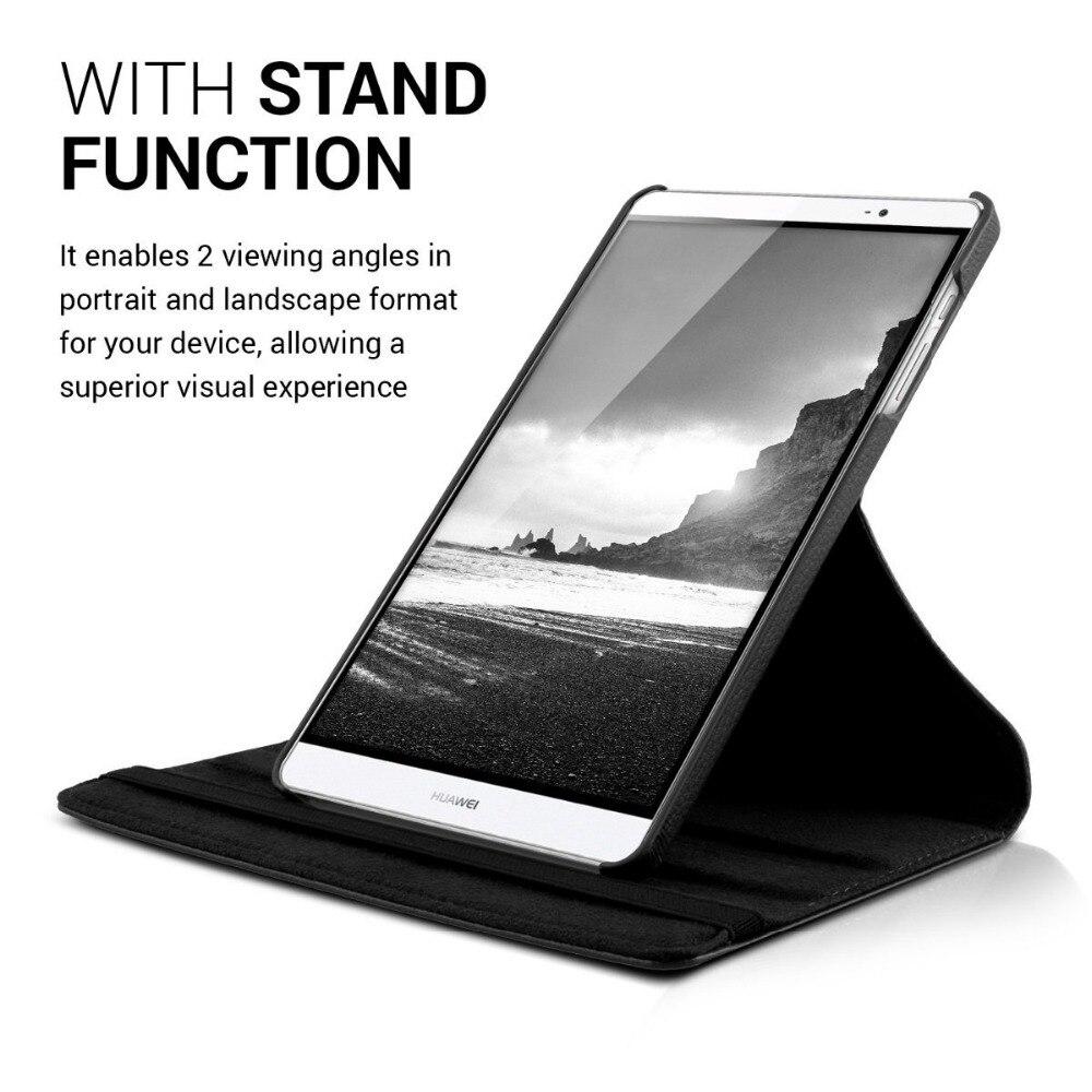 CucKooDo 30 unids/lote para Huawei medios M2 8,0 funda con soporte giratorio de 360 grados para Huawei MediaPad M2 8,0 pulgadas 801 w/803L - 4