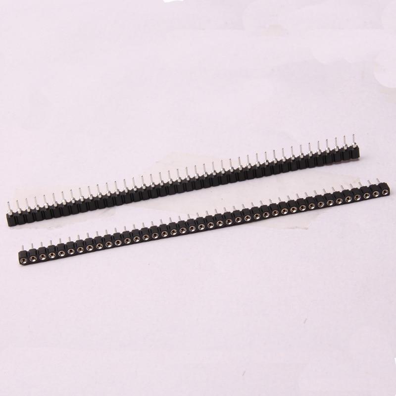 Glyduino 40 Pins Crystal Sockets 18B20 Single Row Round Hole Seat Row Seat Spacing 2.54MM For Arduino
