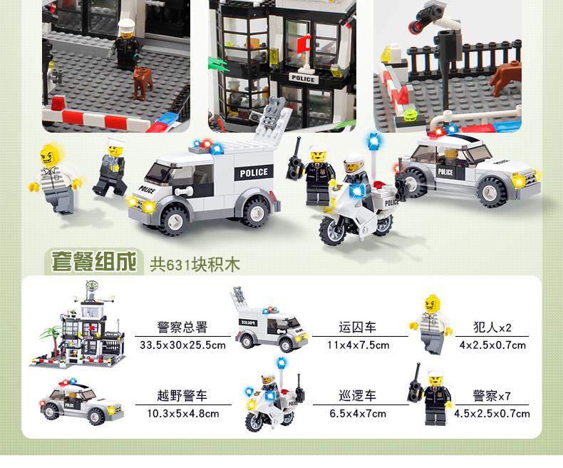 Kids Toys City Street Police Station sets Cars Trucks compatible legoeing  model Building kits Blocks cops vehicle boats Bricks 1db363d6ce