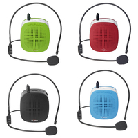 Mini Portable Voice Portable Speaker Amplifier With Microphone Battery Cable Waistband For Touring Guide Teaching Public