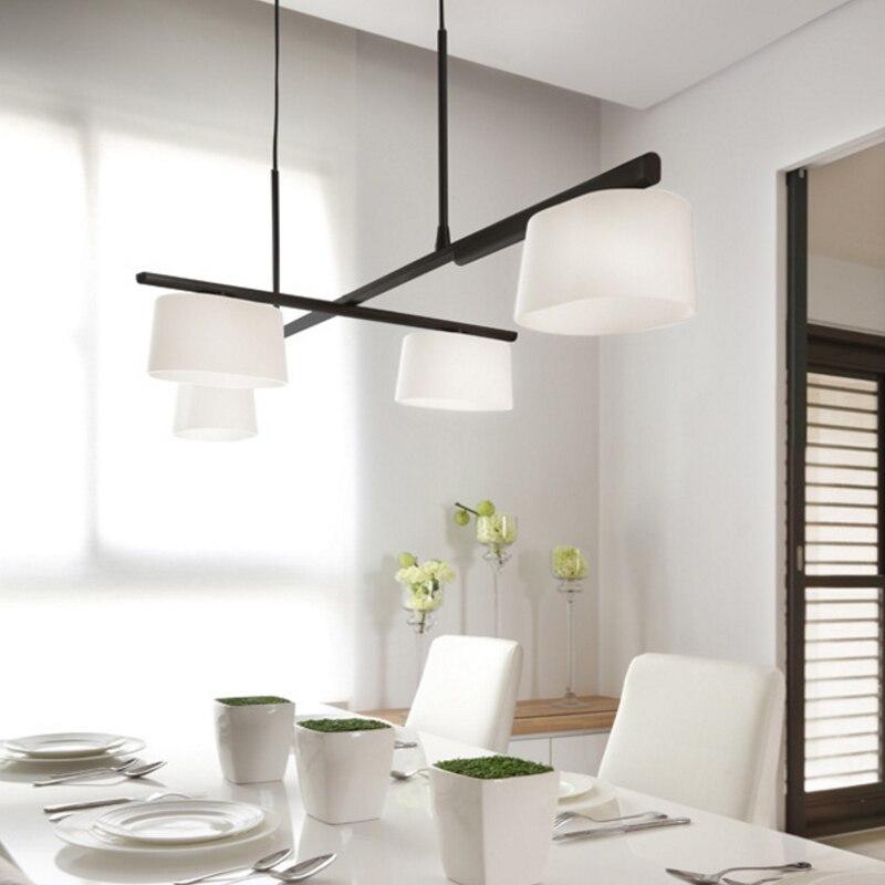 Nordic Lampade a sospensione Ruotare A Soffitto Lampada A Sospensione per la cucina di casa di illuminazione luce moderno apparecchio lustro tamburo lampada a sospensione