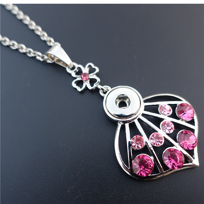 Smart Rhinestone Skirt Metal 12mm Snap Buttons Necklace 50cm Link Chain Maxi Jewelry