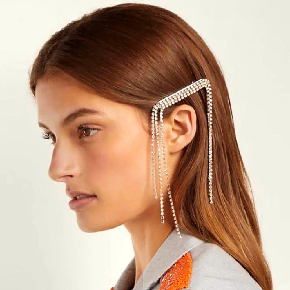 Hair Clip Trend 2019: 2019 Fashion Blingbling Crystal Tassel Hairpin Hairgrip