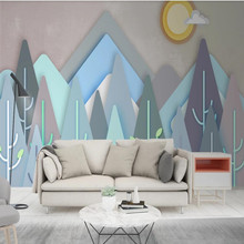 Modern geometric triangle Nordic abstract personality living room TV background wall