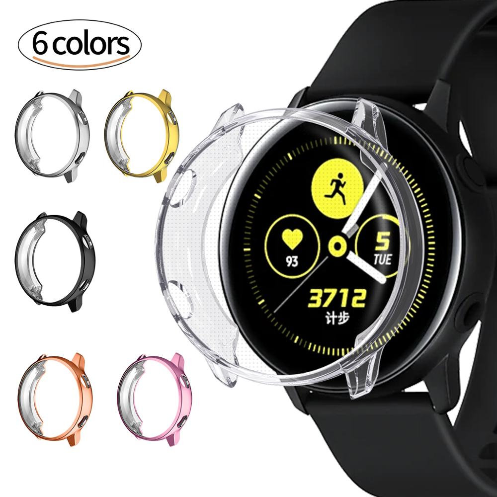 Galaxy Watch Active Case for Samsung Galaxy Watch Active Shell Protector HD Full Coverage TPU Screen Protection Case Cover(China)