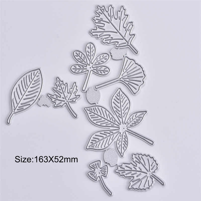 GJCrafts Steel Branches Leaf Metal Cutting Dies New 2019 Craft Dies Scrapbooking Stencil Paper Card Decorative DIY Craft Diecuts