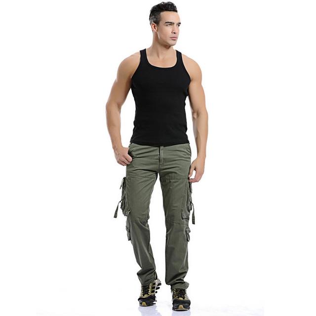 Pantalones Para Hombre Pantalones de Herramientas Fácil Ocio Ejército Militar moda Pantalones Pantalones Hombres Basculador Pantalones Nueva Versión Italiana de Herramientas de Bolsillo