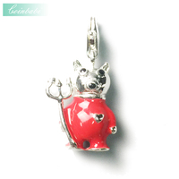 Charm Pendant Little Devil Cattle Doll In Silver For Women Gift Thomas Style Charm Club Jewelry Fit Ts Bracelets Necklace