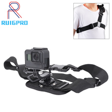 Gopro Accessories Shoulder Strap Gopro Mount For Go pro Hero 8 7 6 5 4 3 2 SJ4000 Action Camera Chest For Gopro Adapter miniisw m hp universal camera mount adapter for gopro hero 4 3 3 hero 2 hero sj4000 black