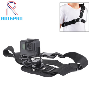 цена на Gopro Accessories Shoulder Strap Gopro Mount For Go pro Hero 8 7 6 5 4 3 2 SJ4000 Action Camera Chest For Gopro Adapter