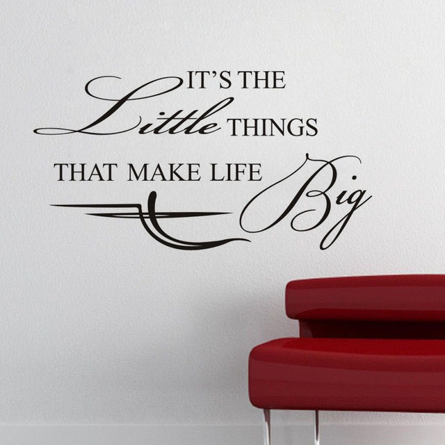 """Life Big"" Wall stickers Quote"
