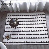 Zeegle幾何リビングルーム子供の寝室のカーペットの再生マット敷物フランネルコーヒーテーブルフロアマット