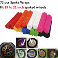 72Pcs Motorcycle Motocross Dirt Bike Wheel Rim Spoke Skins Covers Wrap Decor Protector Kit