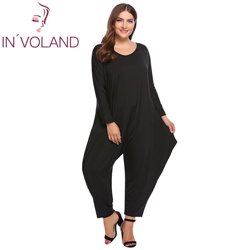 31b942749e IN VOLAND Plus Size Women Jumpsuit Rompers One Piece XL-5XL Spring Autumn  Bodysuit