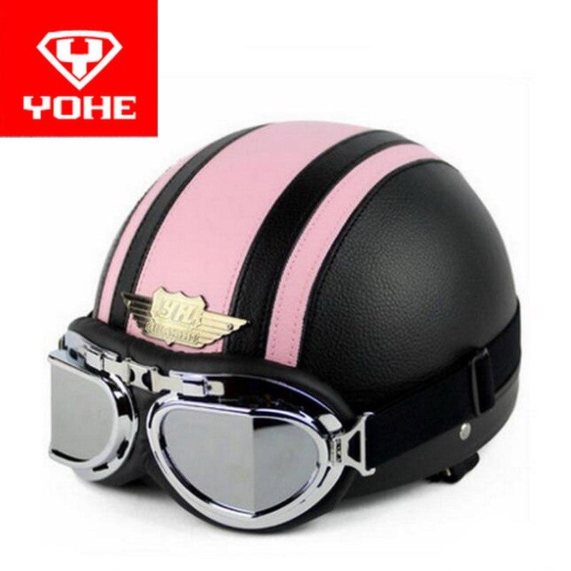 HOT SALE YOHE Harley style motorcycle helmet Korea edition summer motorbike helmets ABS YH998-1N1 with glasses 5 kinds of colors
