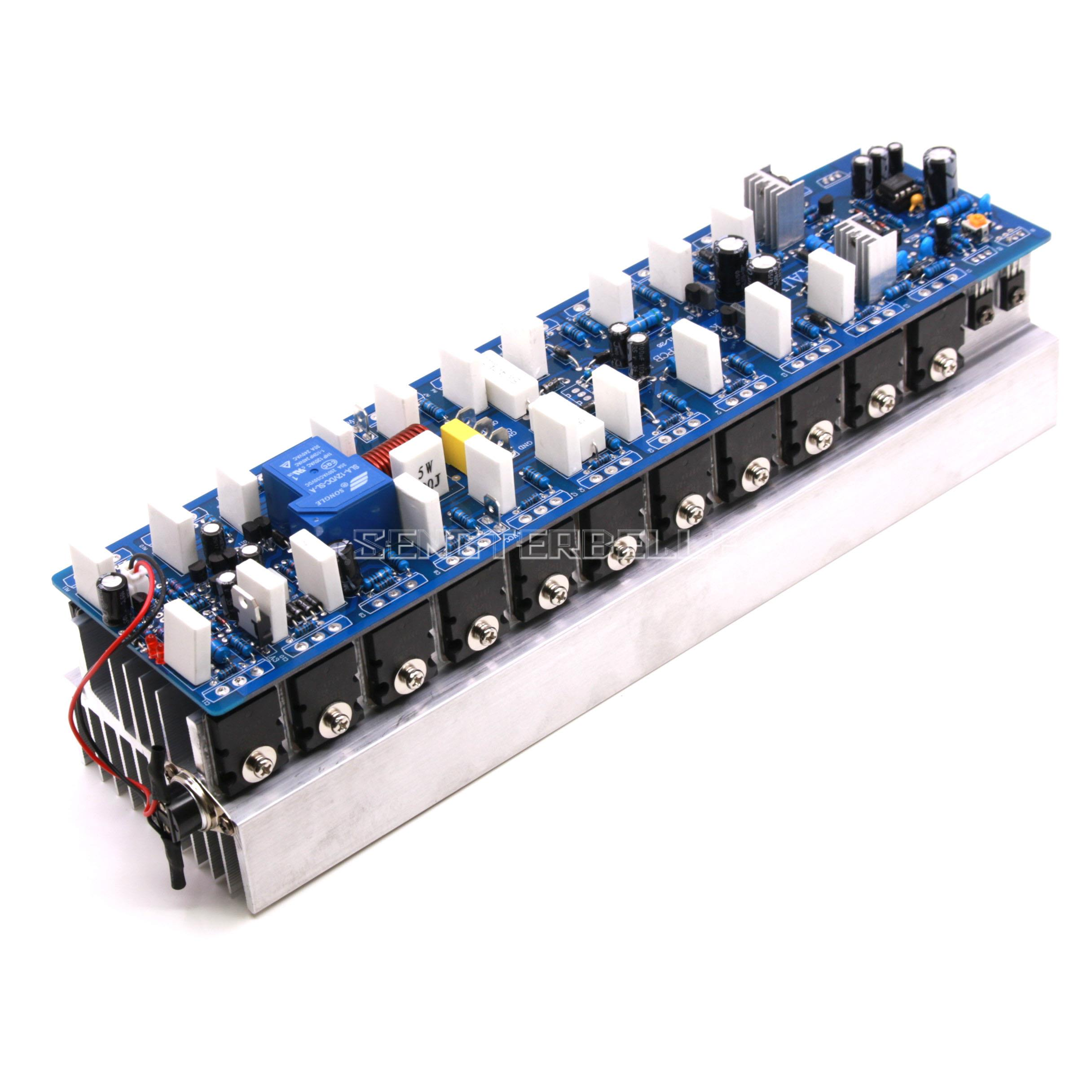 Assembled 1200W Powerful Amplifier Board Mono HiFi Audio Amp Board With HeatsinkAssembled 1200W Powerful Amplifier Board Mono HiFi Audio Amp Board With Heatsink