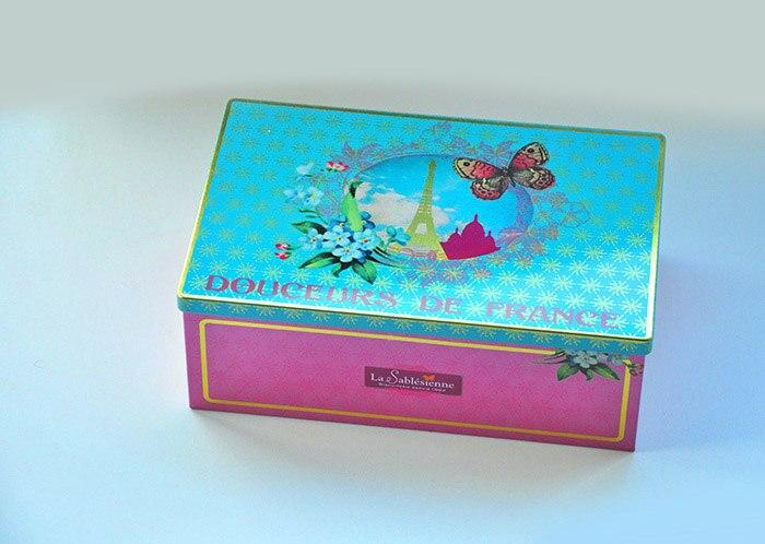 Francie obdélník skladování cín krabice / dárkové krabice / speciální design kontejner