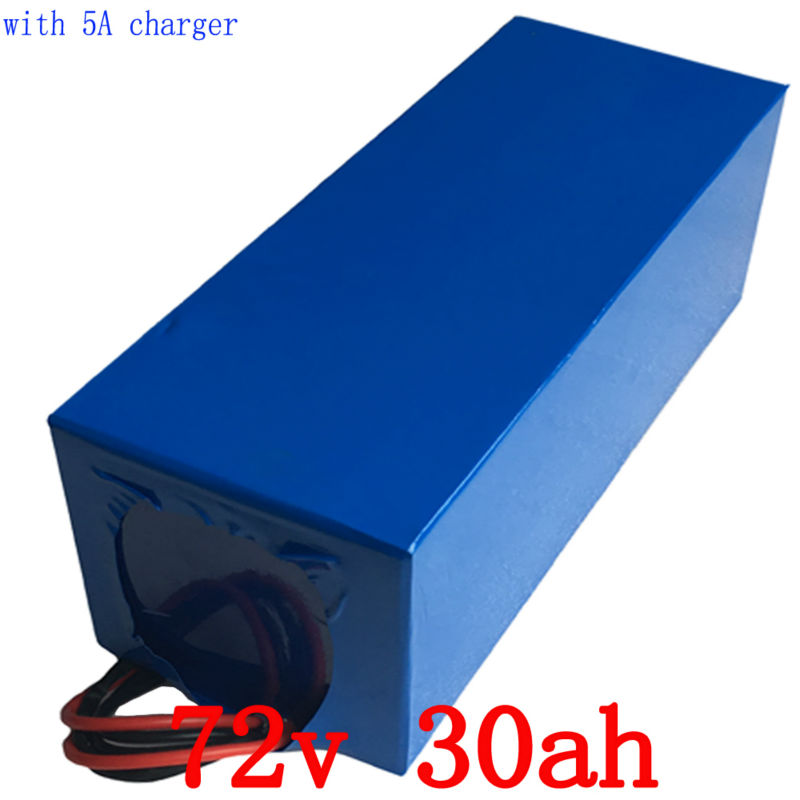 Free Customs High Quality Electric Bike Battery 72V 30AH 1500W Super Power Lithium ion Battery with 84v Charger Free Shipping free customs taxes super power 1000w 48v li ion battery pack with 30a bms 48v 15ah lithium battery pack for panasonic cell