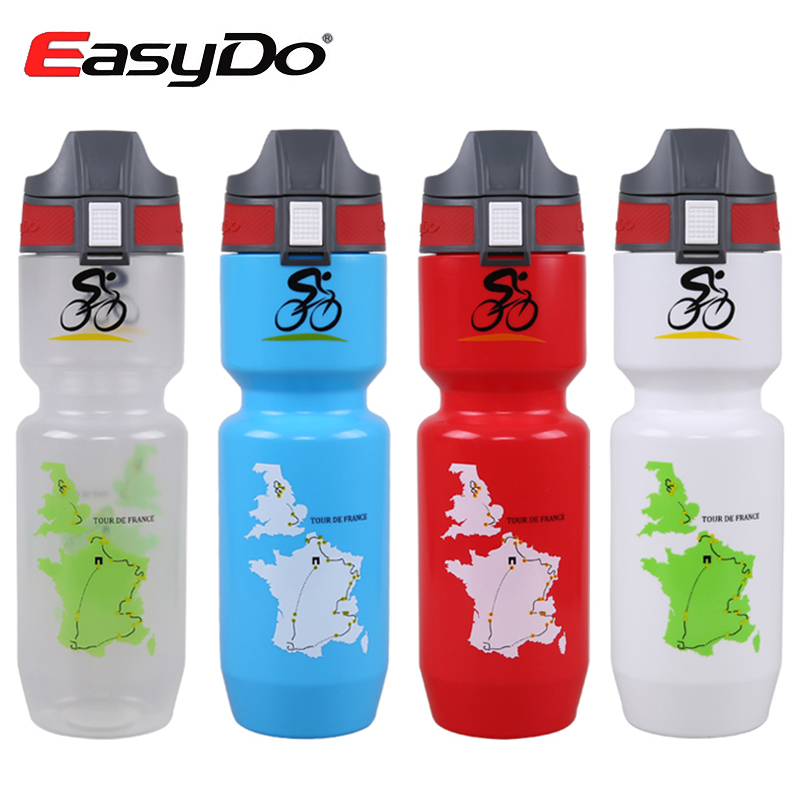 Easydo Large Capacity 750ml Mountain Bike Water Bottle Sports Cycling Cups Mtb Bicycle Kettle Tour De France Cycle Equipment