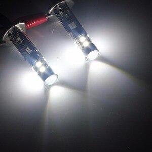 Image 4 - ANGRONG 2pcs H1 Xenon White 10 SMD LED DRL Driving Fog Beam Headlight Bulb Lamp(CA304)