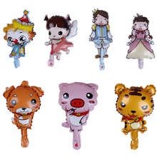 1pc Mini Cartoon Animal Baby Cake Aluminum Balloons Birthday Party Balloons Children's Toys 30~40cm Cute girl boy pig dog(China)