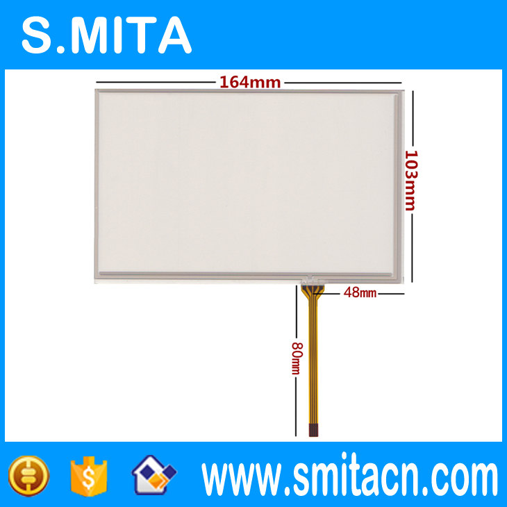 7.1 inch touch screen Taiwan industrial standard touch screen 164mm*103mm 164*103 for INNLOUX AT070TN83 V.1, <font><b>AT070TN84</b></font> / 82 image