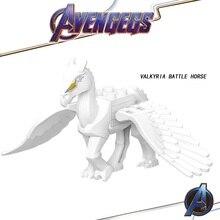 Legoed Avengers 4 Endgame Marvel Iron Man Infinity Gauntlet Valkyria Battle Horse Building Blocks Children Gift Toys GD213