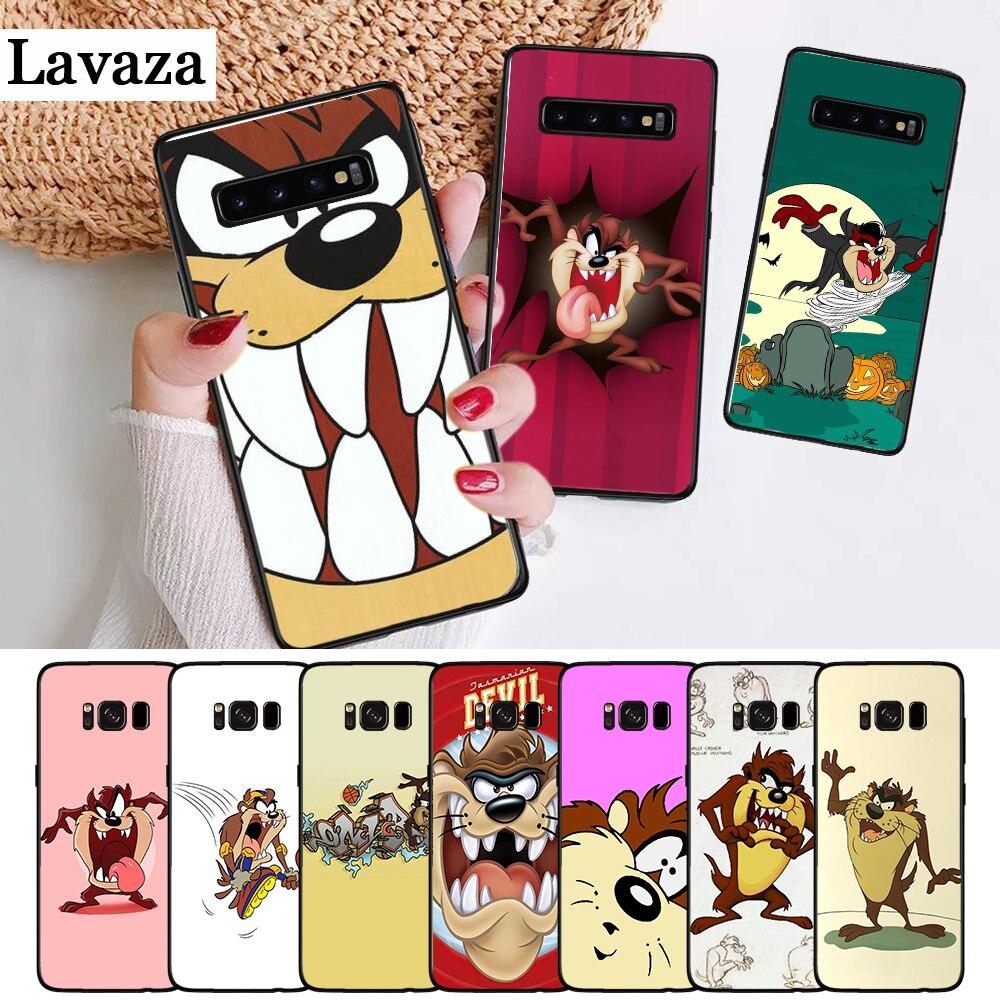 Lavaza Looney Tunes Tasmanian Devil Silicone Case for Samsung S6 Edge S7 S8 Plus S9 S10 S10e Note 8 9 10 M10 M20 M30 M40