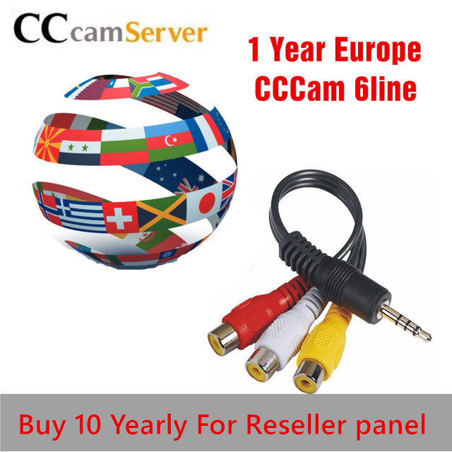 1 Year CCcams Europe Cline Card sharingServer Mgcam Oscam Cline for VU+ Samsat Starsat Satellite TV Receiver via usb wifi