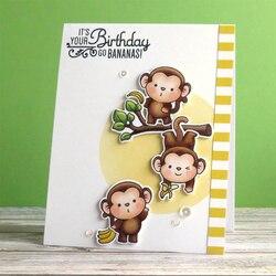 Chunky Affe Transparent Klar Silikon Stempel/Dichtung für DIY Scrapbooking/Foto Album Dekorative Karte Machen Klar Briefmarken 4x6 zoll