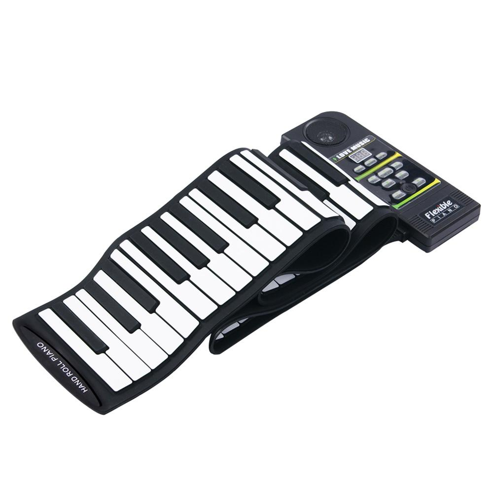 KONIX PN88S 88Keys 28 Tones 100 Rhythms Electronic Flexible Foldable Roll Up Piano USB & MIDI Port With Speaker For Children