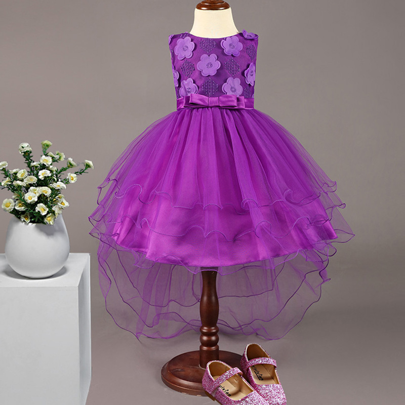 Flower     Girl     Dresses   for Wedding Party Sleeveless Lace Decal with Beading Short   Girl   Princess Party Formal   Dress   vestido