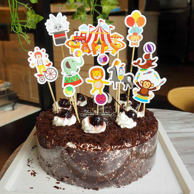الإبداعية السيرك موضوع الكرتون حفلة عيد ميلاد الجدول القابل للتصرف كأس لوحة السيرك بالون راية لوازم الحفلات الديكور