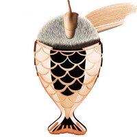 Mermaid Shaped Makeup Brush Set Big Fish Tail Foundation Powder Eyeshadow Make Up Brushes Contour Blending