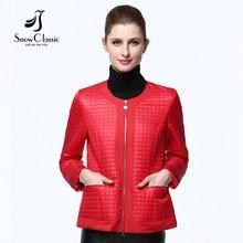 Snow Classic 2017 новая осеняя куртка весная женская коллекция  круглый воротник тонькая теплая пальто женская модная короткая куртка с молнии 16017