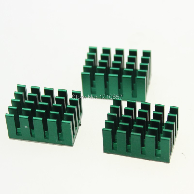 20 pieces LOT Green Aluminum Heatsink Radiator 20mmx 14mmx 10mm 200pcs lot 0 36kg heatsink 14 14 6 mm fin silver quality radiator