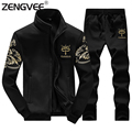 2017 Winter Warm Zipper Hooded Mens Tracksuit OutWear Men Sportwear Hot Selling High Qualiy