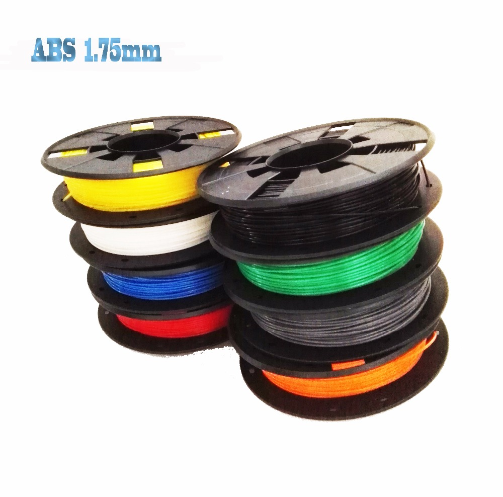 3d printer filament 9 colors Optional ABS 1.75mm MakerBot RepRap plastic Rubber Consumables Colorful Material