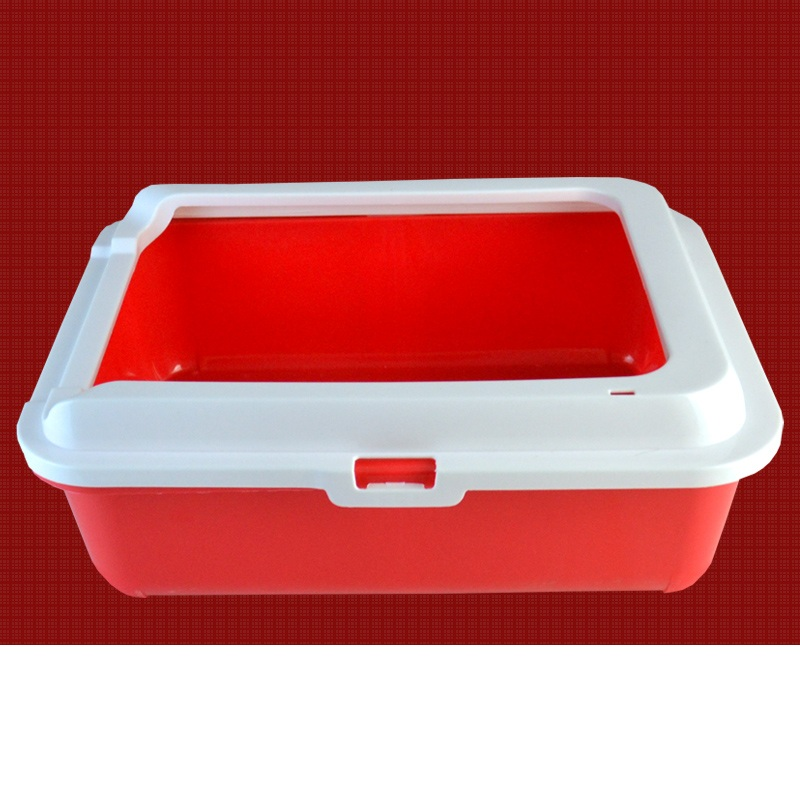 Средний размер маленькая кошка песок бассейна полузакрытый Туалет большой двойной сетки кошачий Туалет Размеры: 45*34*13 см
