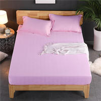 1 Piece Solid Color Bed Sheet Sabanas Bed Sheets High 30cm Cotton Mattress Cover Twin Full Queen Size Bed Fitted Sheet