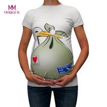29a55822e MUQGEW ropa de lactancia maternidad divertido lindo patrón de la impresión  de manga corta Camiseta Casual embarazada Tops bebé e.
