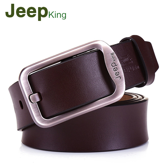 Jeep king NEW Men's Belts Luxury Designer High Quality Genuine Leather Man Belt Pure Cowhide Skin Strap Male Formal Men Girdles