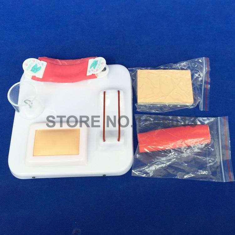 Kit complet de formation aux compétences chirurgicales, coupe, ligature, nouage, anastomose et kit de pratique de suture