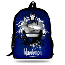 hot deal buy new blue demon tinieblas mil mascaras rayo de jalisco printing school bags for young men children school bags boy laptop mochila