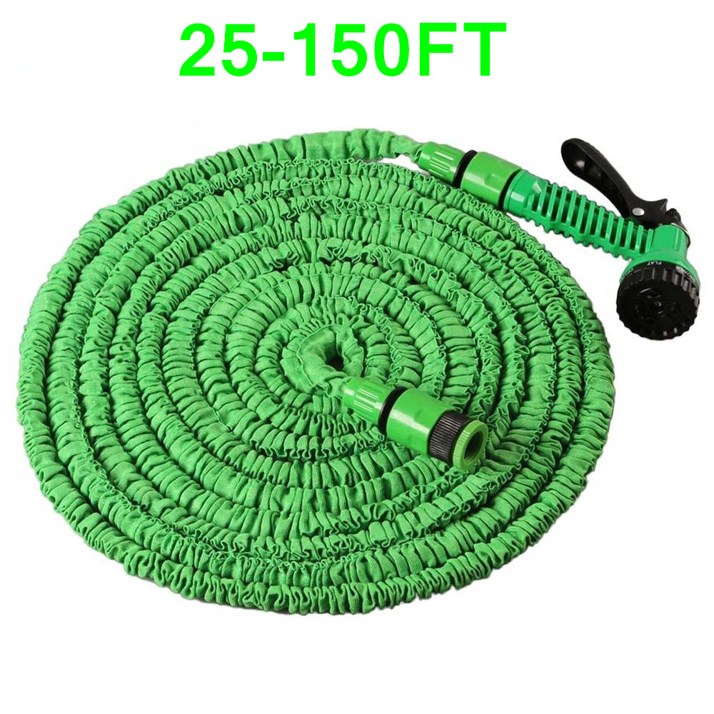 25-150FT Garden Water Hose Multifunction Expandable Magic Flexible Water Hose Plastic Hoses Pipe With Spray Gun To Watering Car(China)