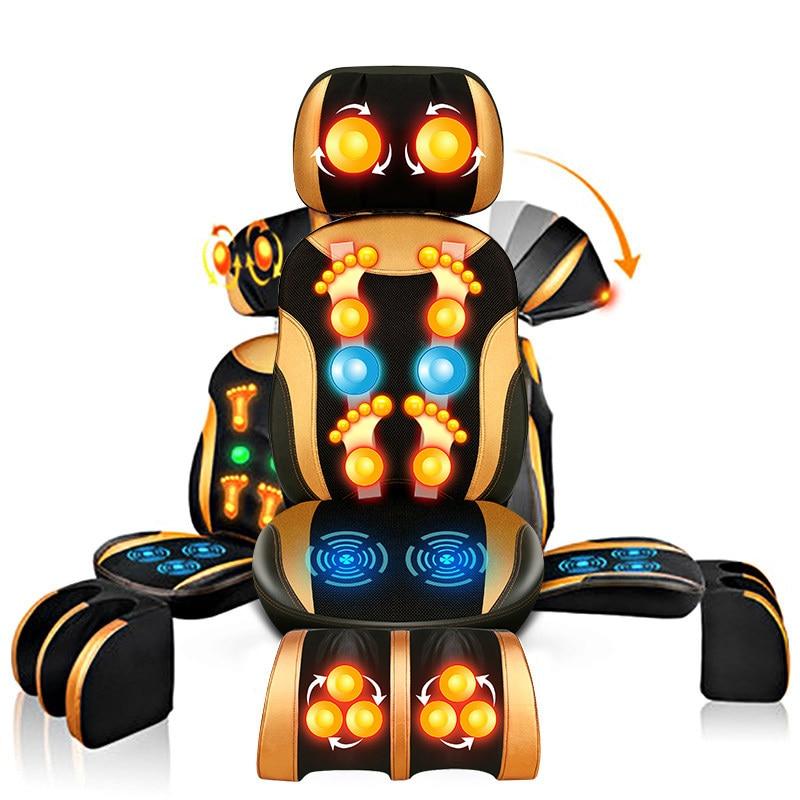 Электрический массажный стул бытовой полный автоматический Multi Функция средства ухода за кожей массаж разминание спины подушки пожилых ше