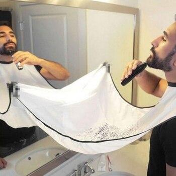 120x80cm Avental de barbear para homem, avental de banheiro para homem, blusa masculina de barba à prova de água, protetor de limpeza doméstica de pano floral