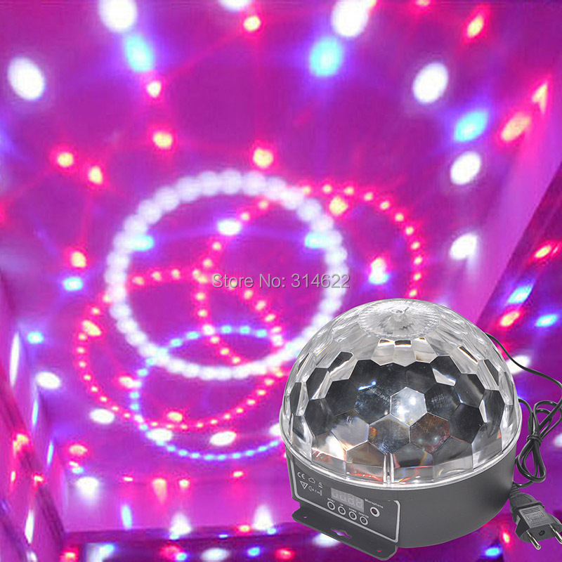 Holiday spirit DMX512 Disco DJ Stage Lighting Digital LED RGB Crystal Magic Ball Effect Light for Xmas Party and New year Party rg mini 3 lens 24 patterns led laser projector stage lighting effect 3w blue for dj disco party club laser