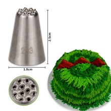 (30pcs/lot)Free Shipping FDA High Quality Stainless Steel 18/8 Small Cake Decorating Pastry Icing Grass/Hair Nozzle #233